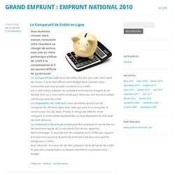 Grand Emprunt : Emprunt National 2010