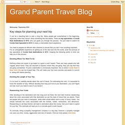 Grand Parent Travel Blog: Key steps for planning your next trip