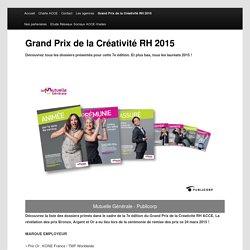 Grand Prix de la Créativité RH 2015