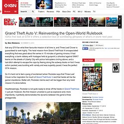 Grand Theft Auto V: Reinventing the Open-World Rulebook