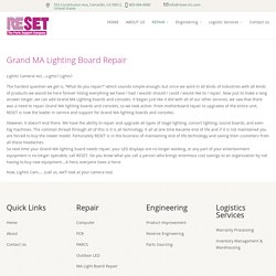 Grand MA Light Repair - MA Lighting Board Repair