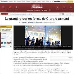 Le grand retour en forme de Giorgio Armani