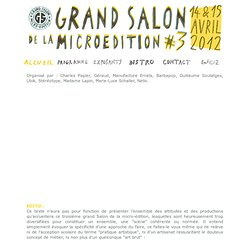 Grand Salon de la Micro Edition #3