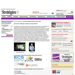 Grand Prix Stratégies du Brand Content 2013