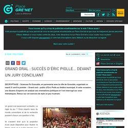 Grand oral : succès d'Éric Piolle… devant un jury conciliant