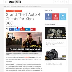 Grand Theft Auto 4 Cheats for Xbox 360