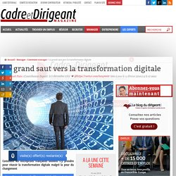 Le grand saut vers la transformation digitale