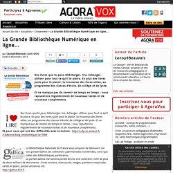 La Grande Bibliothèque Numérique en ligne...