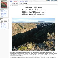 Rio Grande Gorge Bridge - HighestBridges.com