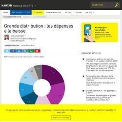 Grande distribution : les dépenses à la baisse - Kantar