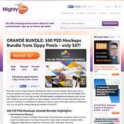 GRANDÉ BUNDLE: 160 PSD Mockups Bundle from Zippy Pixels