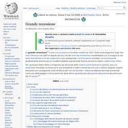 Grande recessione