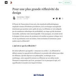 Pour une plus grande réflexivité du design - Collectif Bam - Medium