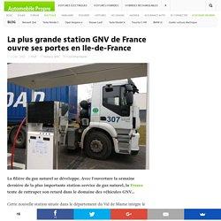 La plus grande station GNV de France ouvre ses portes en Ile-de-France