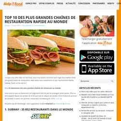 Top 10 des plus grandes chaînes de restauration rapide au monde