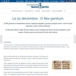 Les grandes Ô 22 décembre - Communauté Saint-Martin