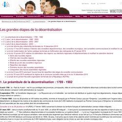 Les grandes étapes de la décentralisation (EtapesDecentralisation.WebHome) - CNFPT