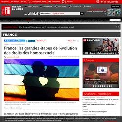 France: les grandes étapes de l'évolution des droits des homosexuels
