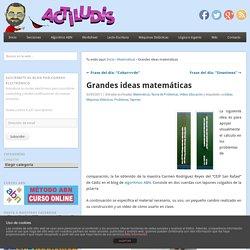 Grandes ideas matemáticas
