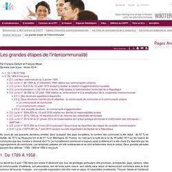 Les grandes étapes de l'intercommunalité (vitrine.Les grandes étapes de l'intercommunalité) - CNFPT