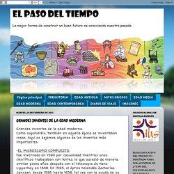 EL PASO DEL TIEMPO: GRANDES INVENTOS DE LA EDAD MODERNA
