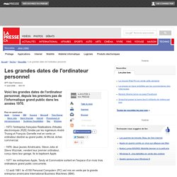 Les grandes dates de l'ordinateur personnel