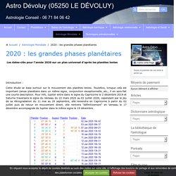 2020 : les grandes phases planétaires