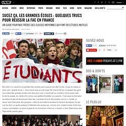 Sucez ça, les grandes écoles : quelques trucs pour réussir la fac en France