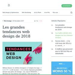 Les grandes tendances web design de 2018