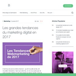 Les grandes tendances du marketing digital en 2017