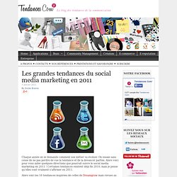 Les grandes tendances du social media marketing en 2011