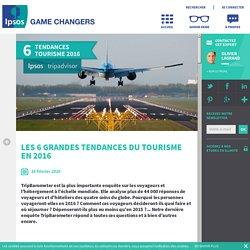 Les 6 grandes tendances du tourisme en 2016
