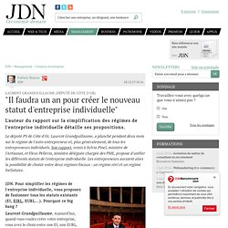 """Laurent Grandguillaume (Député de Côte d'Or):""""Il faudra un an pour créer le nouveau statut d'entreprise individuelle"""""""