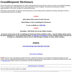 Grandiloquent Dictionary