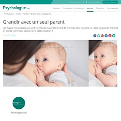 Grandir avec un seul parent