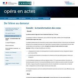 Grandir : la transformation des corps-Opéra en actes-Réseau Canopé