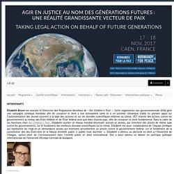 Agir en justice au nom des générations futures : une réalité grandissante vecteur de paix - Sciencesconf.org