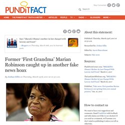 Former 'First Grandma' Marian Robinson caught up in another fake news hoax
