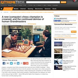 A new (computer) chess champion is crowned, and the continued demise of human Grandmasters