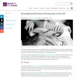 Grandparental leave introduced in the UK