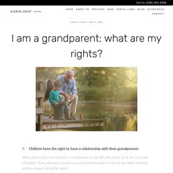 The Legal Rights for Grandparents - Sheri M. Spunt Avocats