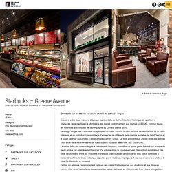 Starbucks - Greene Avenue - Grands Prix du Design