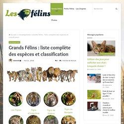 Grands Félins. www.les-felins.com/grands-felins/