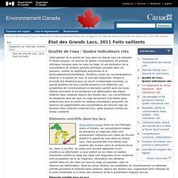 ENVIRONNEMENT CANADA - 2013 - État des Grands Lacs, 2011 Faits saillants