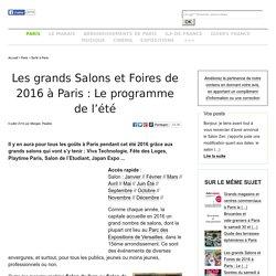 Les grands Salons et Foires de 2014-2015 à Paris: Le programme de novembre