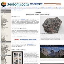 Granite: Igneous Rock - Pictures, Definition