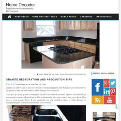 Granite Restoration and Precaution Tips - Home Decoder