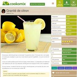 Granité de citron au Thermomix - Cookomix