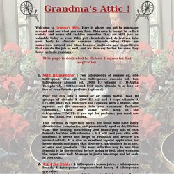 Granmas Attic ...Old Time Beauty and Health Tips