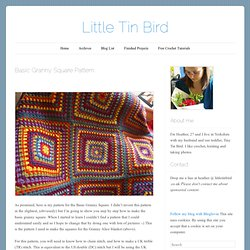 Little Tin Bird » Basic Granny Square Pattern